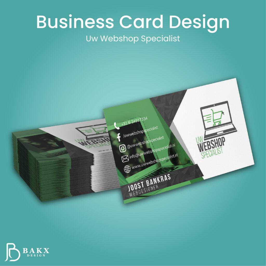 Business Card Design Uw webshop specialist Tekengebied 1 1