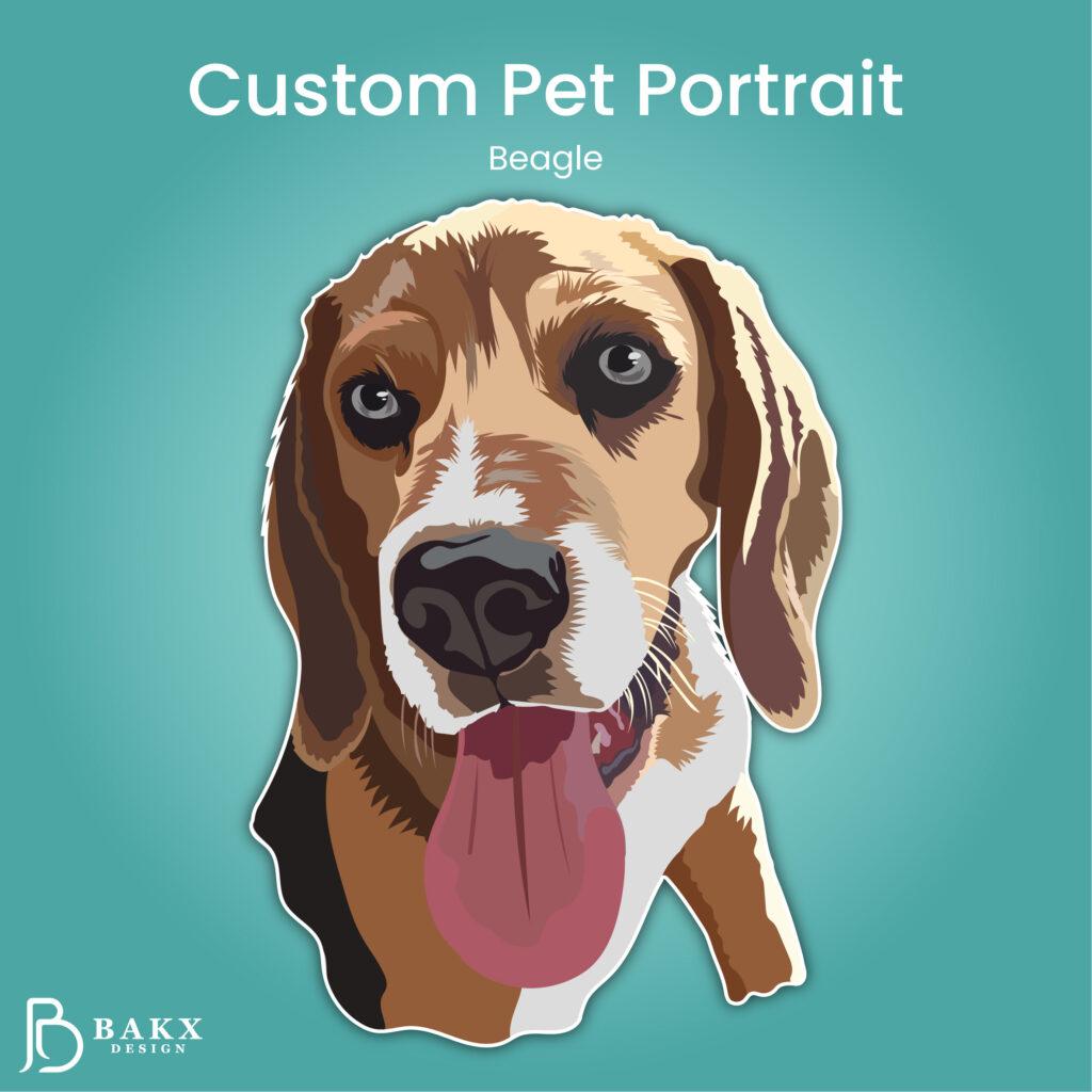 Custom Pet Portrait Hond Sam
