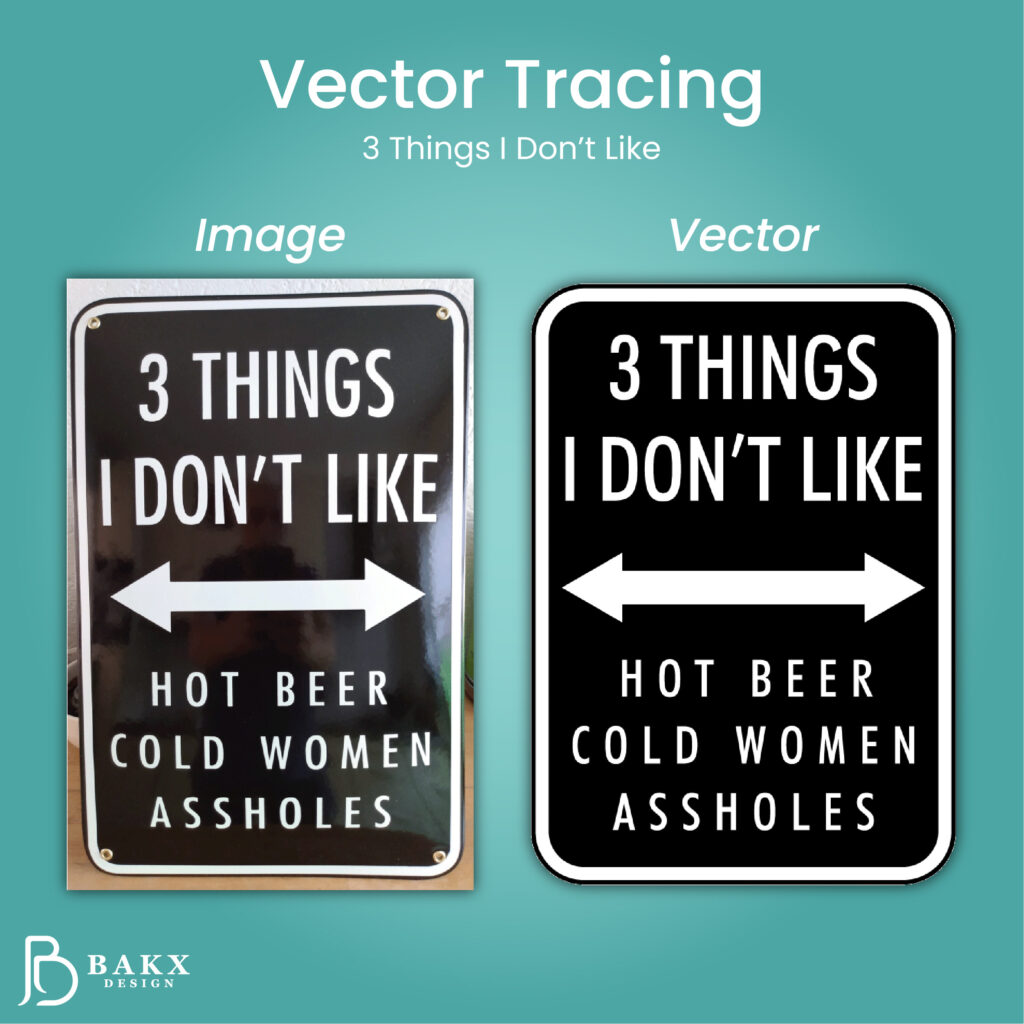 Vector Tracing 3 things I dont like